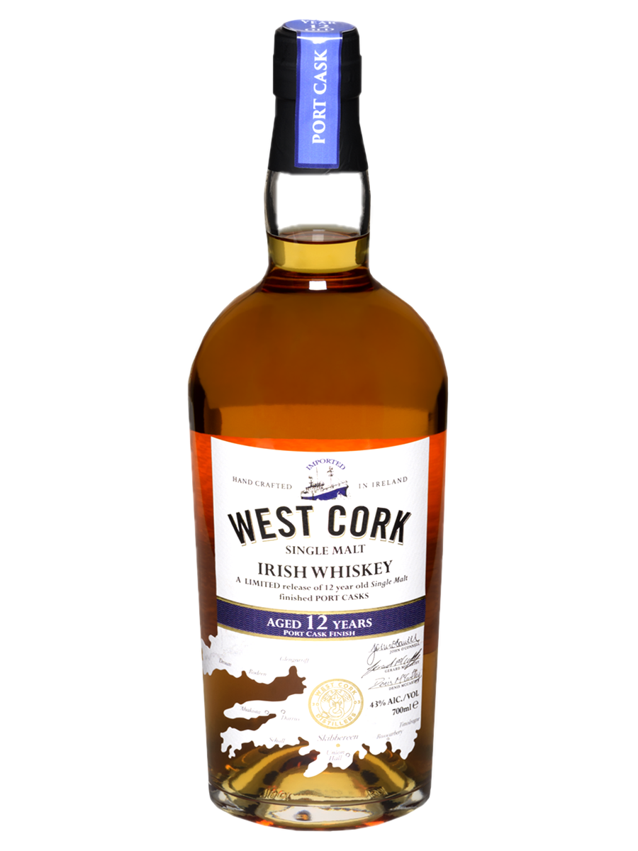 WEST CORK  12 YEAR PORT CASK WEST CORK       SINGLE MALT