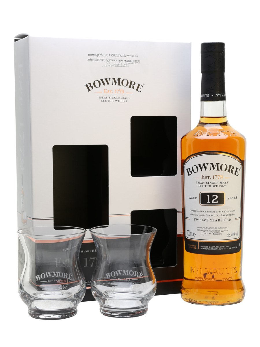 BOWMORE 12 YEARS GLASS PACK