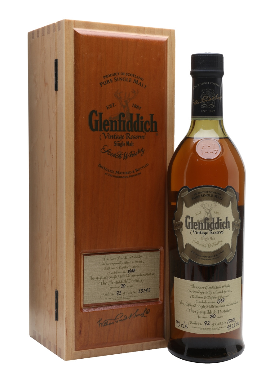 GLENFIDDICH 1968 30 YEARS VINTAGE RESERVE