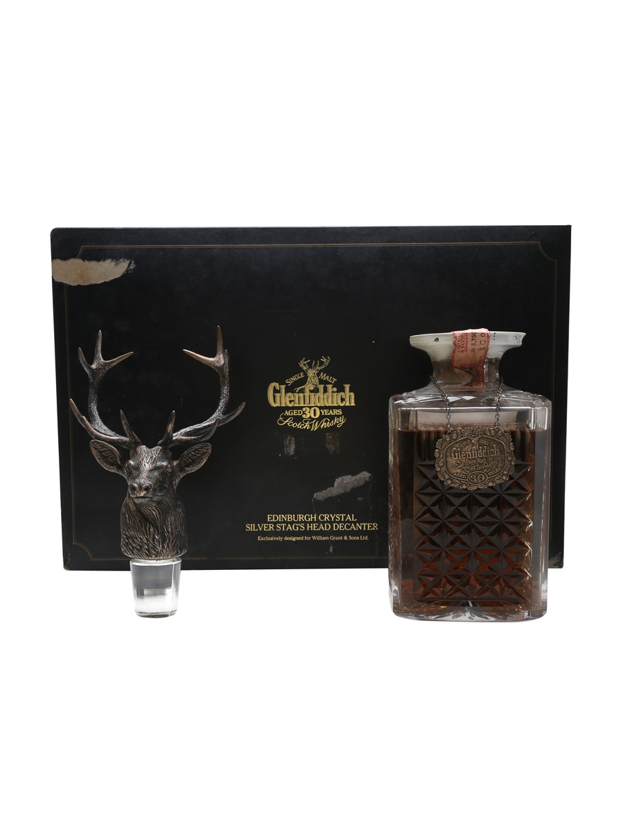 GLENFIDDICH 30 YEARS SILVER STAG DECANTER BOT. 1980S