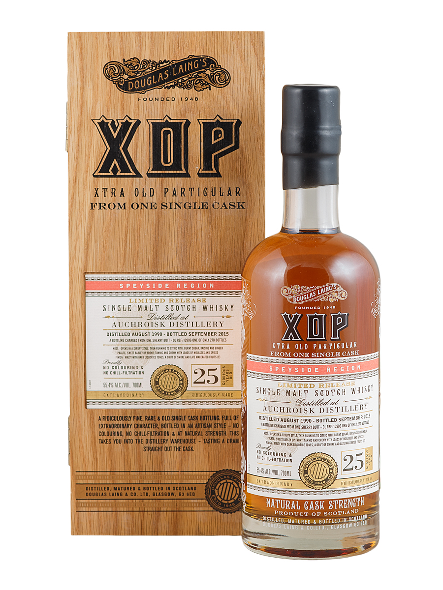 AUCHROISK 25 YEAR 1990 - 2015  XOP SINGLE MALT