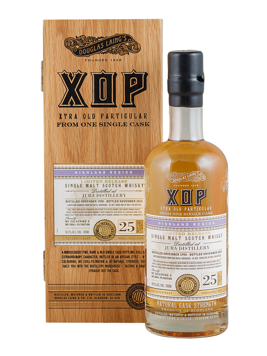 ISLE OF JURA 25 YEAR 1990 - 2015 XOP SINGLE MALT