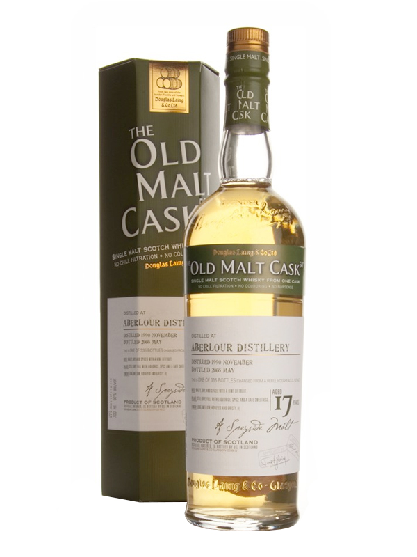 ABERLOUR 17 YEAR 1990 - 2007 OLD MALT CASK  SINGLE MALT