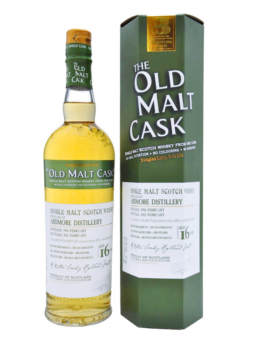 ARDMORE 16 YEAR 1996 OLD MALT CASK SINGLE MALT