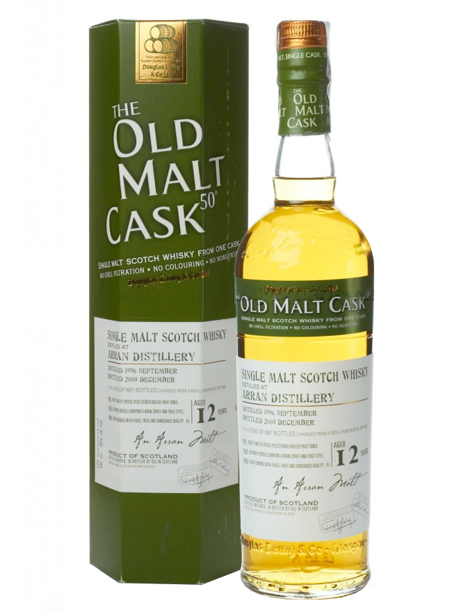 ARRAN 12 YEAR 1996 - 2008 OLD MALT CASK  SINGLE MALT