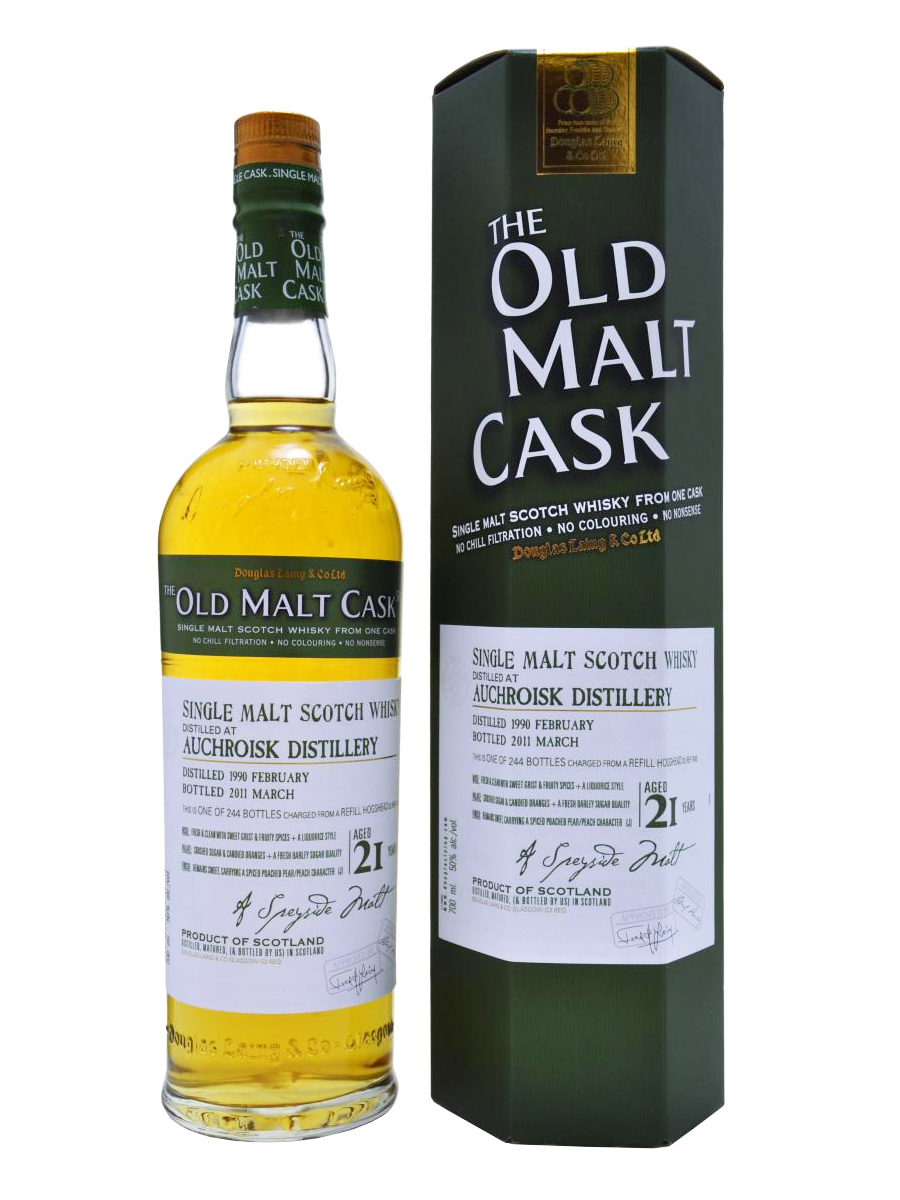 AUCHROISK 21 YEARS 1990-2011 OMC single malt