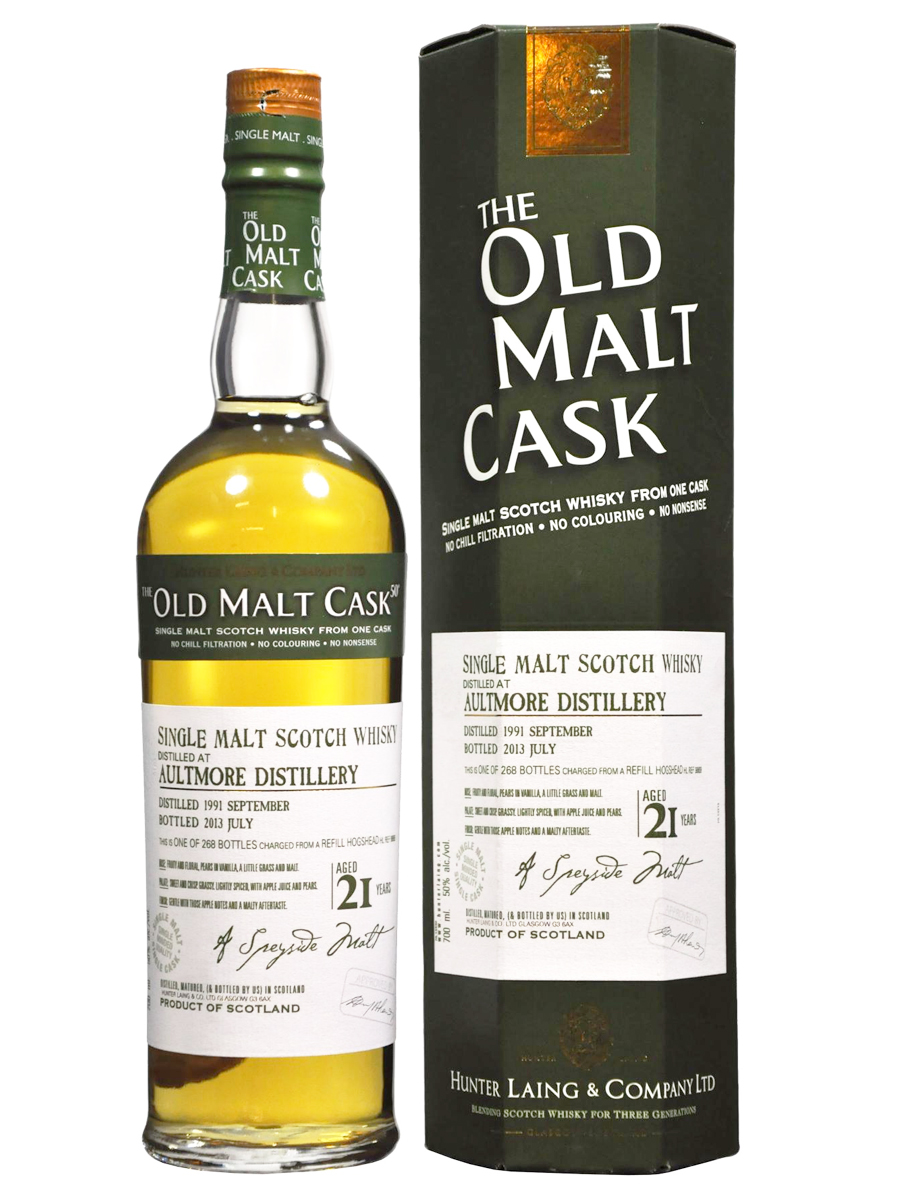 AULTMORE 21 YEAR 1991 - 2012 OLD MALT CASK  SINGLE MALT