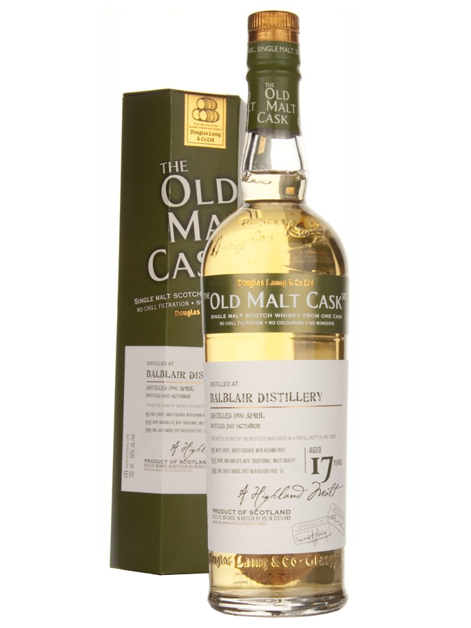 BALBLAIR 17 YEARS 1990-2007 OMC single malt
