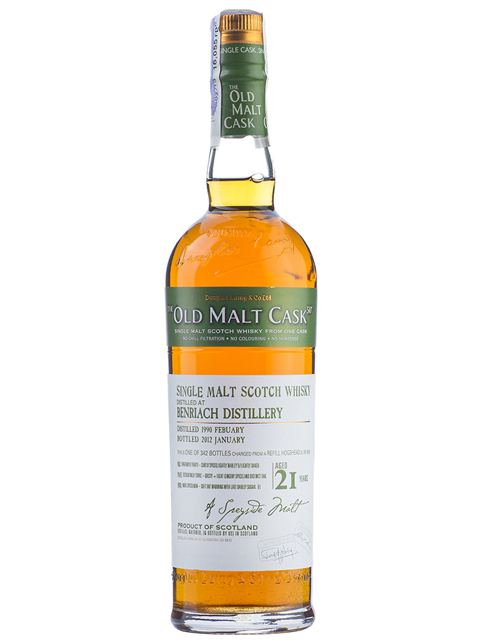 BENRIACH 21 YEAR 1990 - 2011 OLD MALT CASK  SINGLE MALT