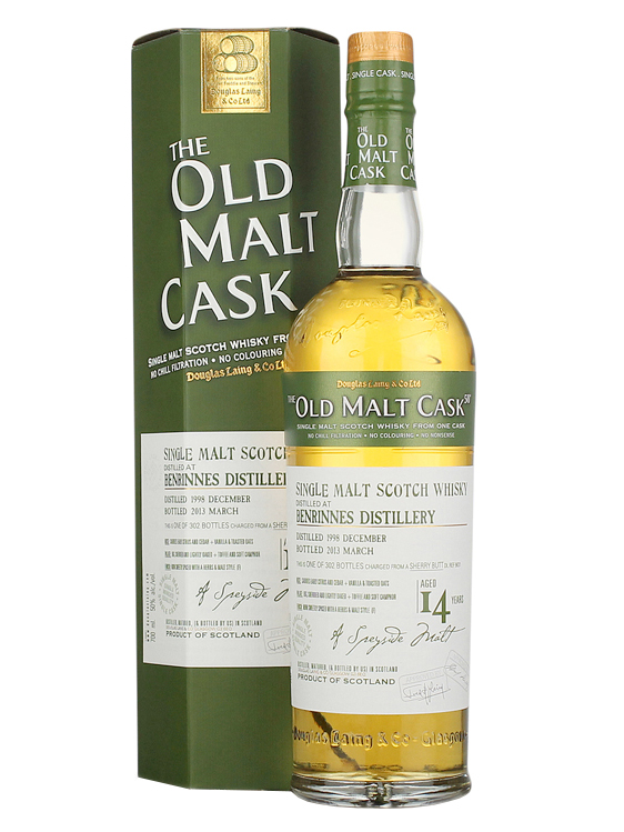 BENRINNES 14 YEAR 1998 - 2012 OLD MALT CASK  SINGLE MALT