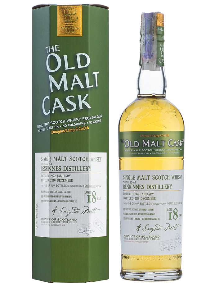 BENRINNES 18 YEARS 1992-2010 OMC single malt