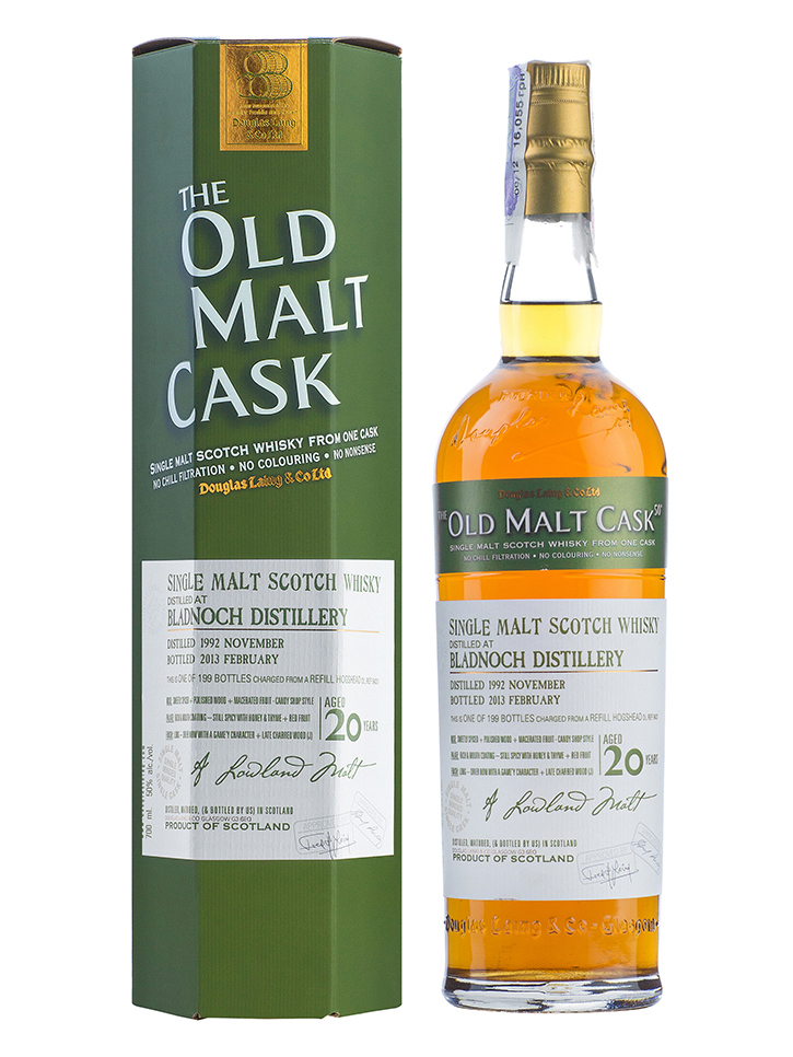 BLADNOCH 20 YEAR 1992 - 2012 OLD MALT CASK  single malt