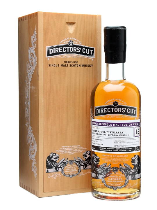 BLAIR ATHOL 16 YEAR 1995 - 2011 DIRECTORS CUT  single malt