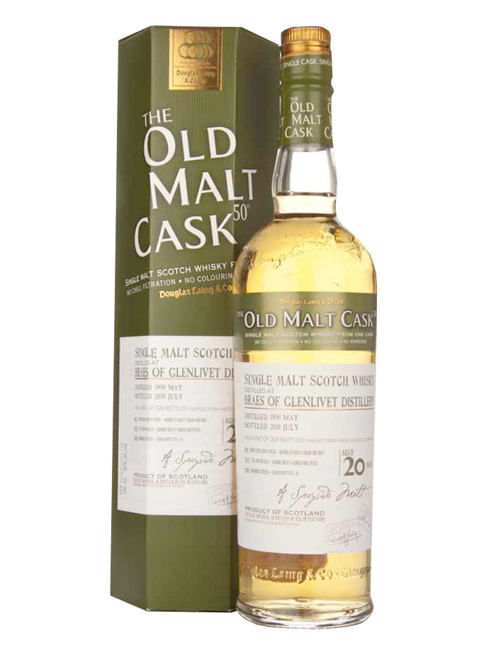 BRAES OF GLENLIVET 20 YEAR 1990 OLD MALT CASK SINGLE MALT