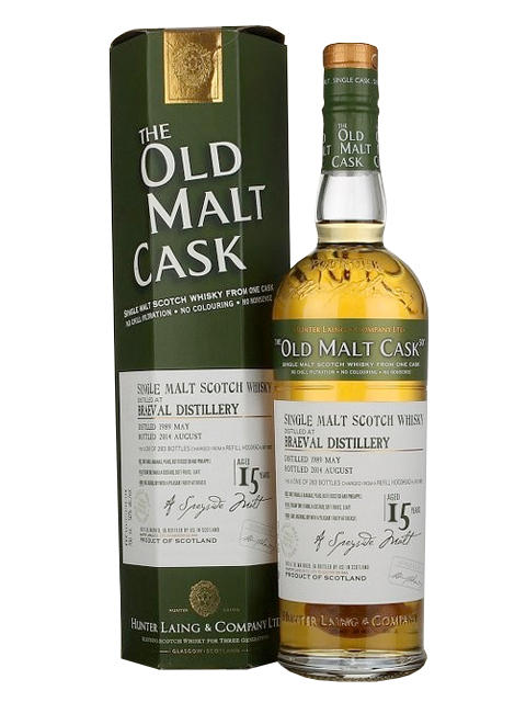 BRAEVAL 15 YEAR  1997 OLD MALT CASK SINGLE MALT