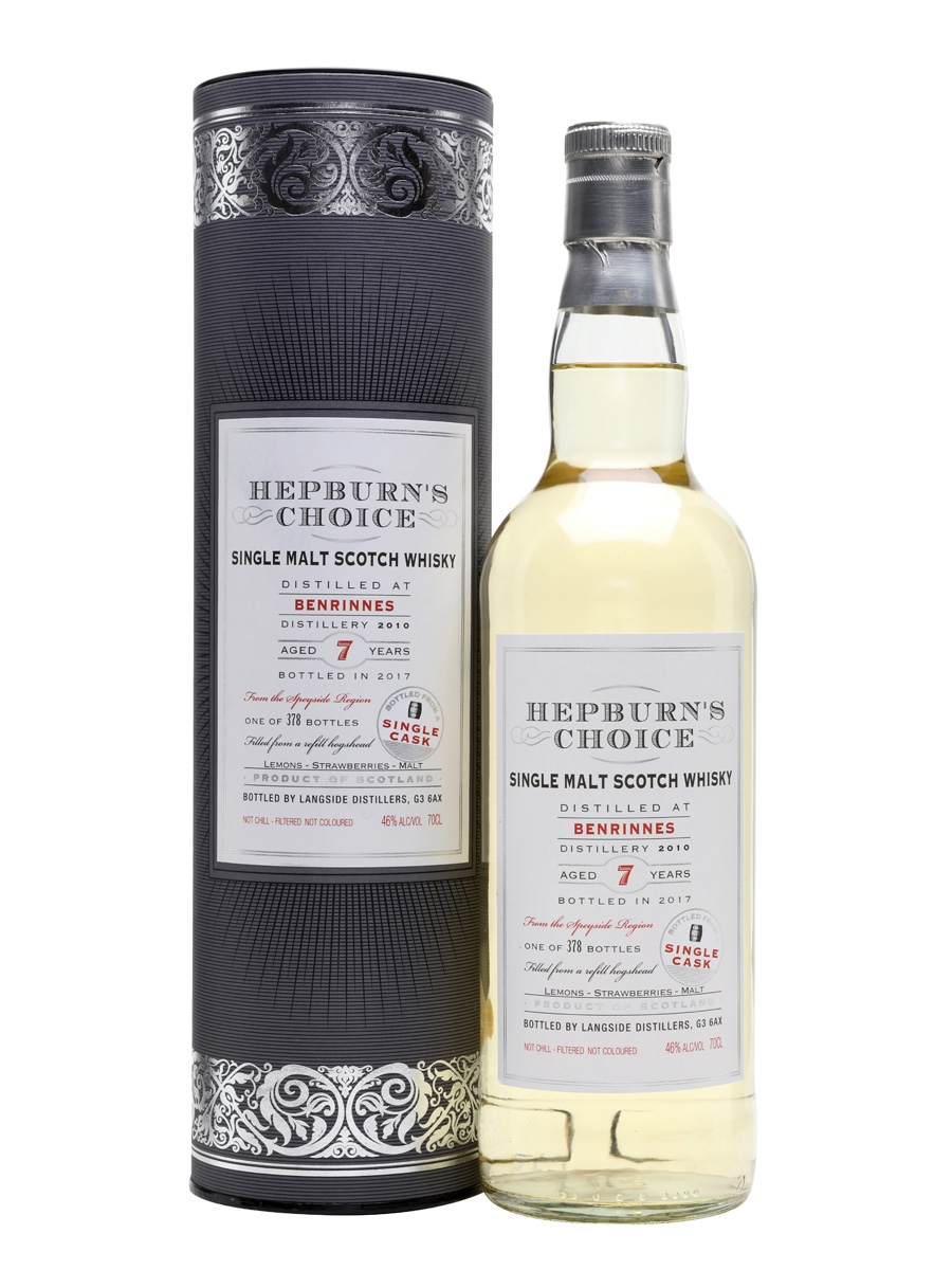 BENRINNES 7 YEARS HEPBURN'S CHOICE single malt