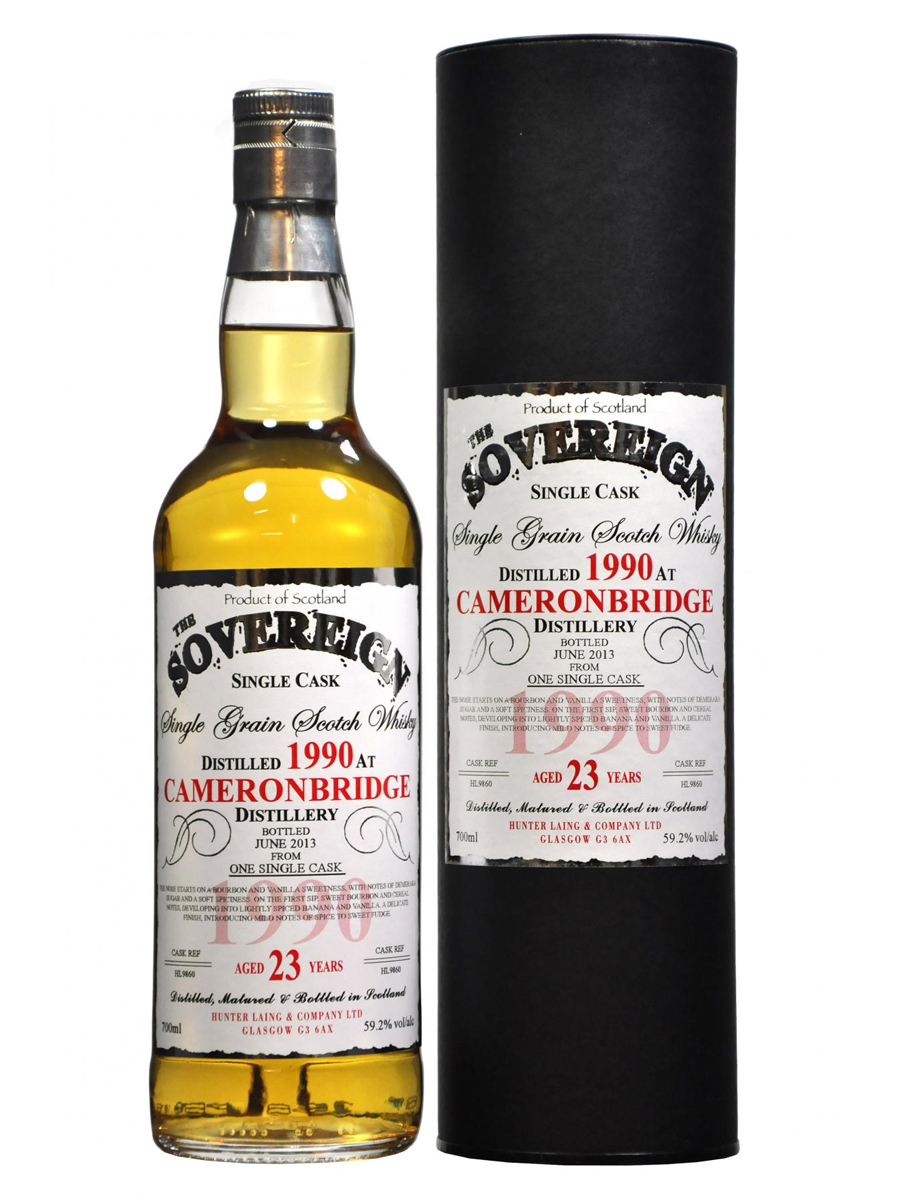 CAMERONBRIDGE 23 YEAR  1990 SOVEREIGN SINGLE GRAIN