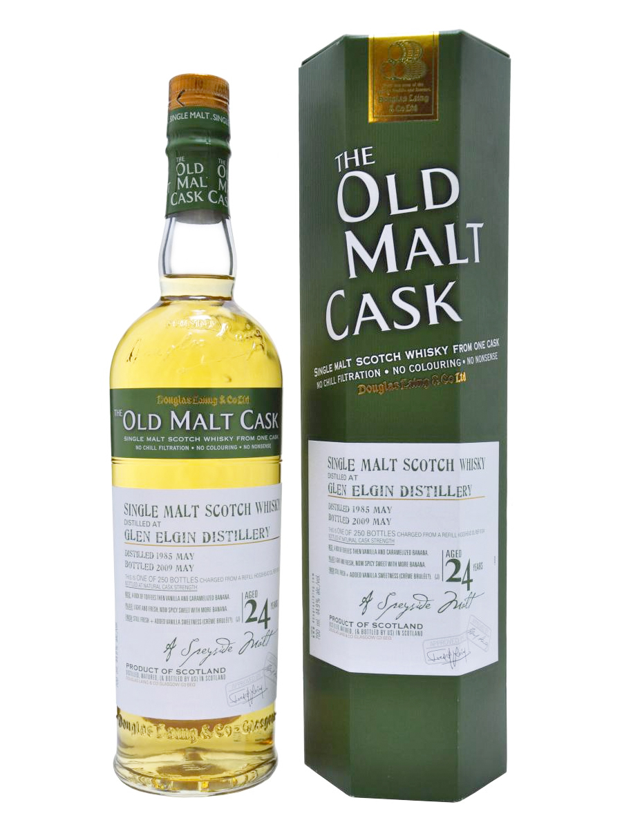GLEN ELGIN 24 YEARS 1985-2009 OMC single malt