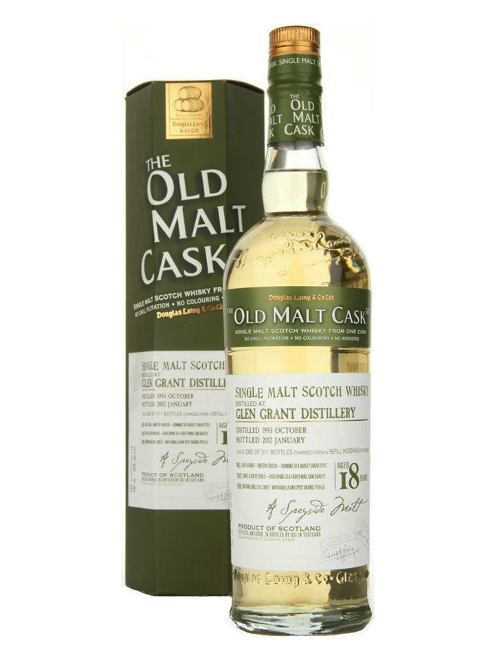 GLEN GRANT 18 YEAR 1993 - 2011 OLD MALT CASK  SINGLE MALT