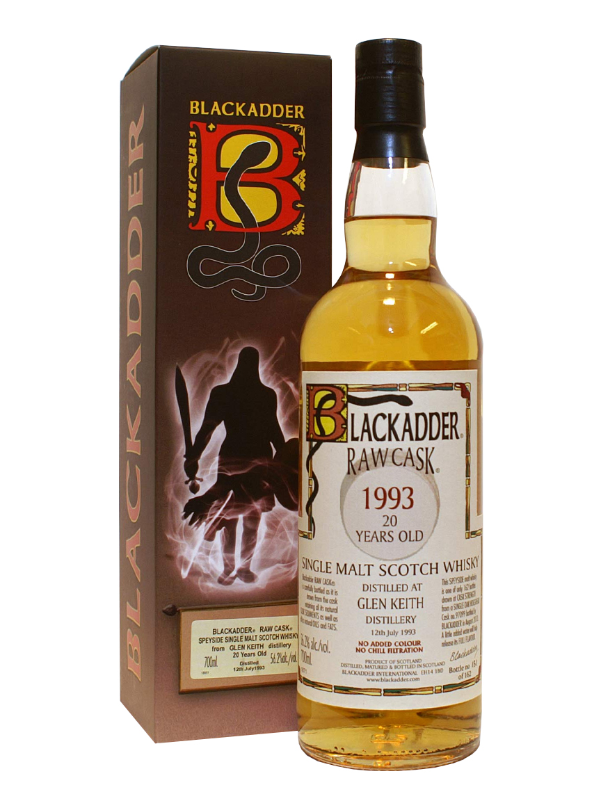 GLEN KEITH 20 YEARS 1993 BLACKADDER single malt