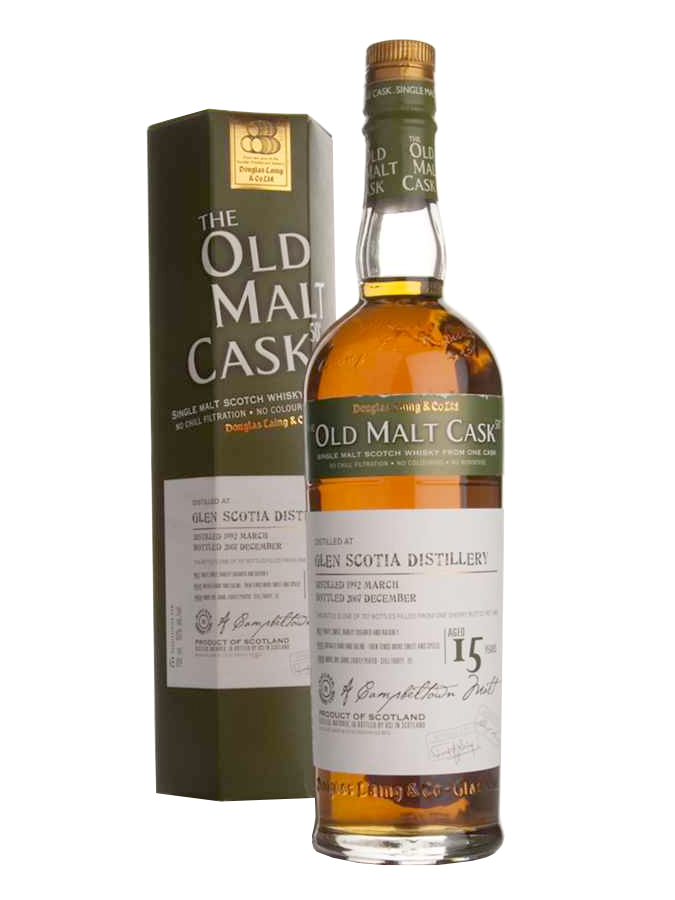 GLEN SCOTIA 15 YEAR 1992 OLD MALT CASK SINGLE MALT