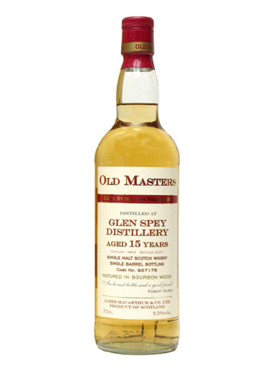 GLEN SPEY 15 YEAR  1992 - 2007 JAMES MACARTHUR SINGLE MALT