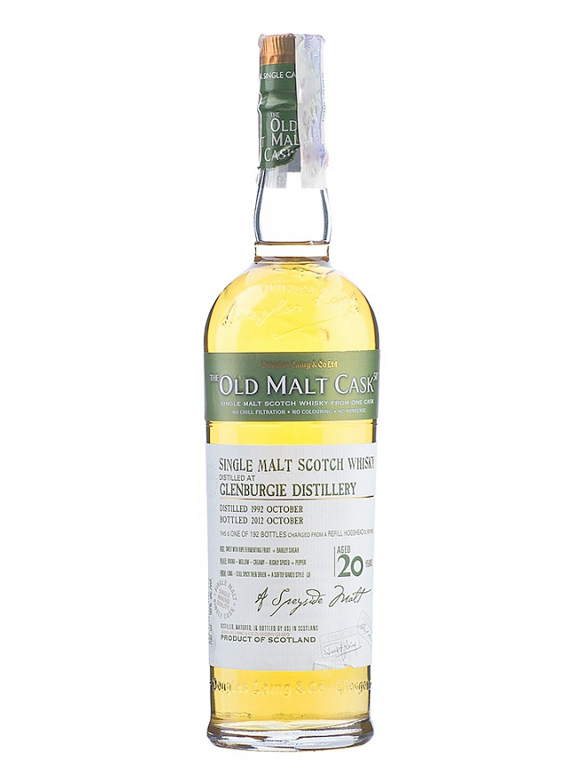 GLENBURGIE 20 YEAR 1992 - 2012 OLD MALT CASK  single malt