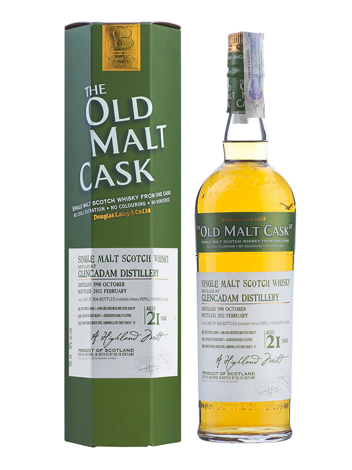 GLENCADAM 21 YEAR 1990 - 2011 OLD MALT CASK  SINGLE MALT