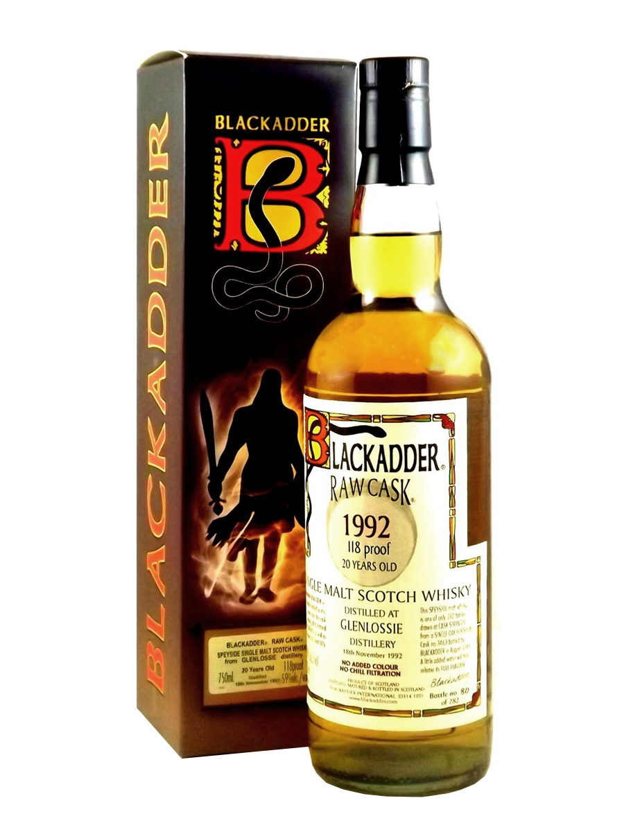 GLENLOSSIE 20 YEARS 1992 BLACKADDER single malt