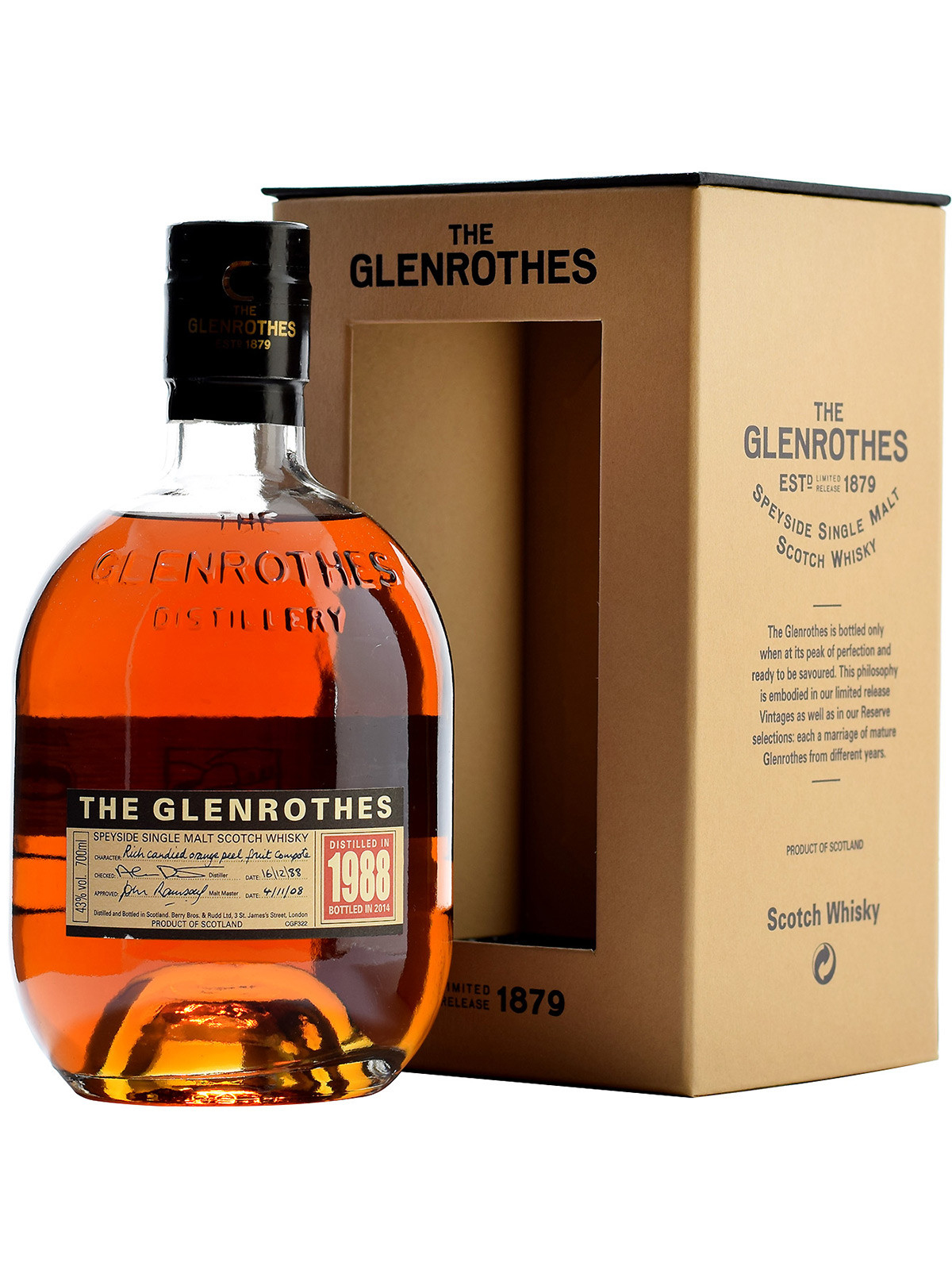 GLENROTHES 23 YEARS 1998  single malt