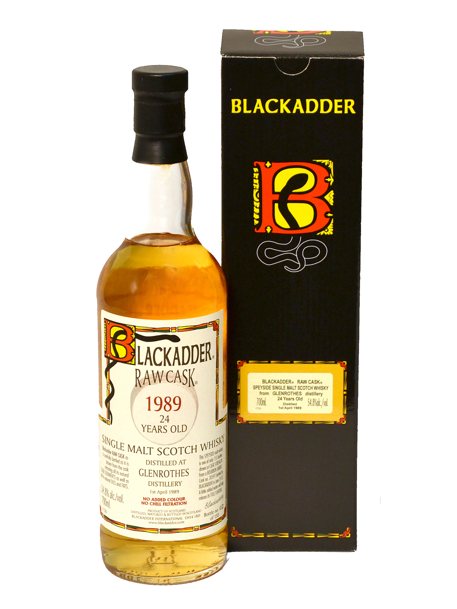 GLENROTHES 24 YEARS 1989 BLACKADDER single malt