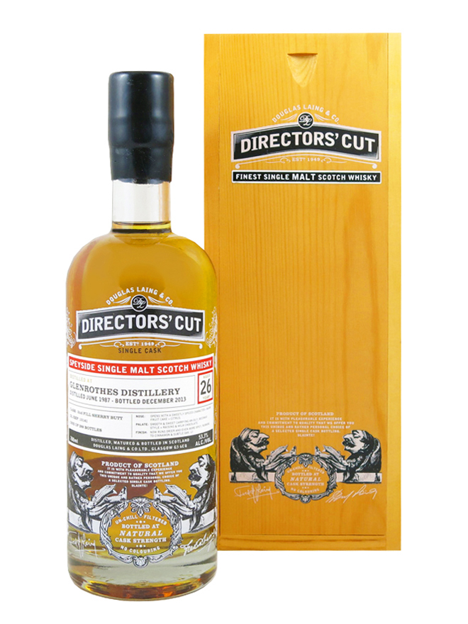 GLENROTHES 26 YEAR 1987 - 2013 DIRECTORS CUT  SINGLE MALT