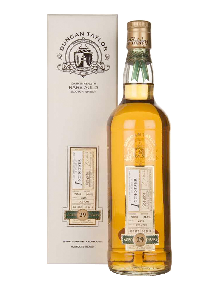 INCHGOWER 29 YEARS 1982-2011 RARE AULD single malt