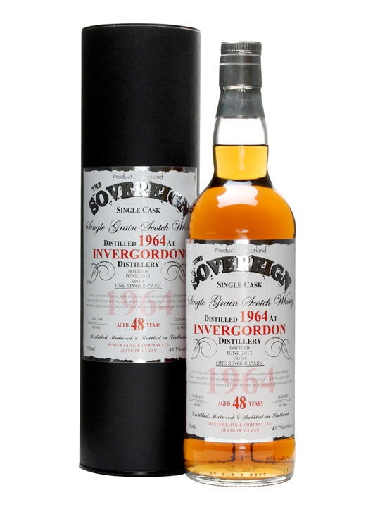INVERGORDON 48 YEAR  1964 - 2012  SOVEREIGN SINGLE GRAIN