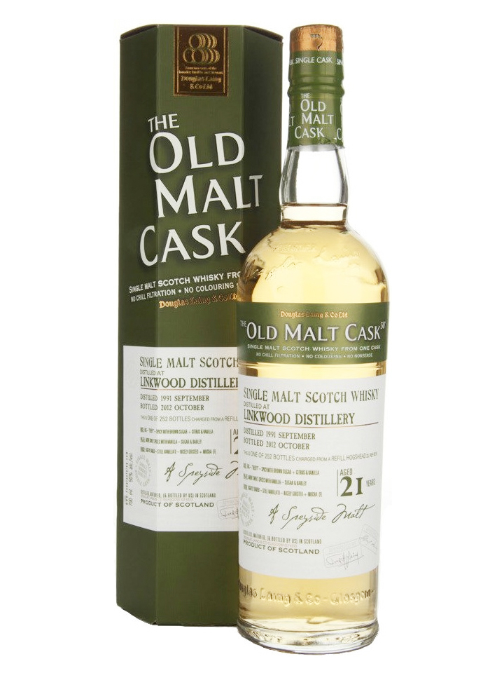 LINKWOOD 21 YEAR 1991 - 2012  OLD MALT CASK  SINGLE MALT