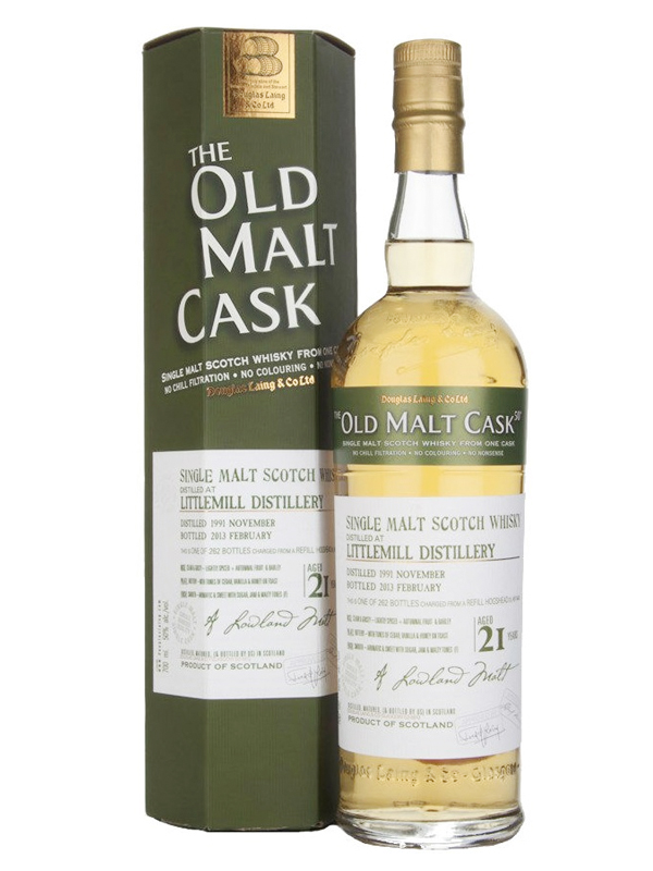 LITTLEMILL 21 YEAR 1991 - 2012 OLD MALT CASK  SINGLE MALT