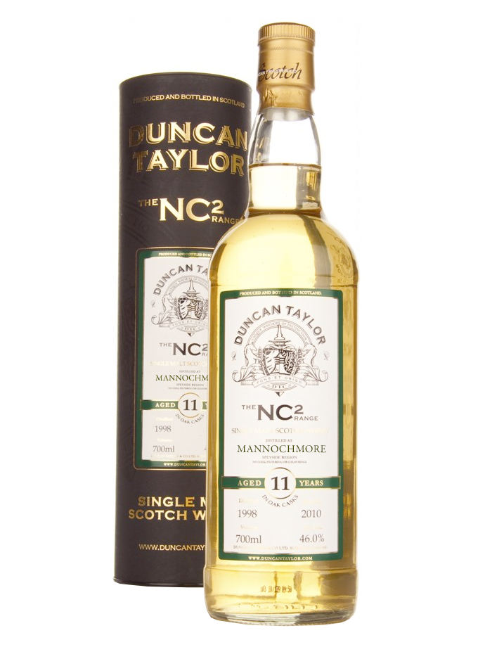 MANNOCHMORE 11 YEARS 1996-2008 NC2 single malt