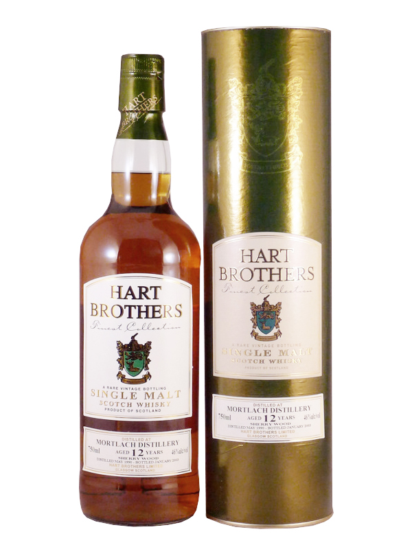 MORTLACH 12 YEAR 1990 - 2002 HART BROTHERS  single malt