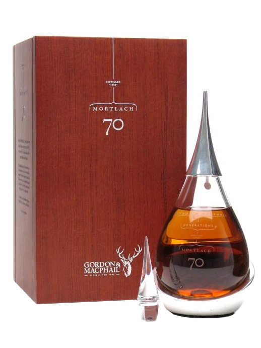 MORTLACH 70 YEAR OLD 1938 GENERATIONS GORDON & MACPHAIL