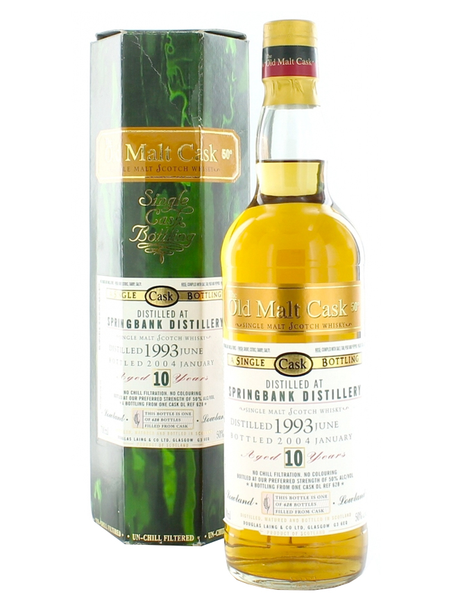SPRINGBANK 10 YEARS 1994-2004 OMC single malt