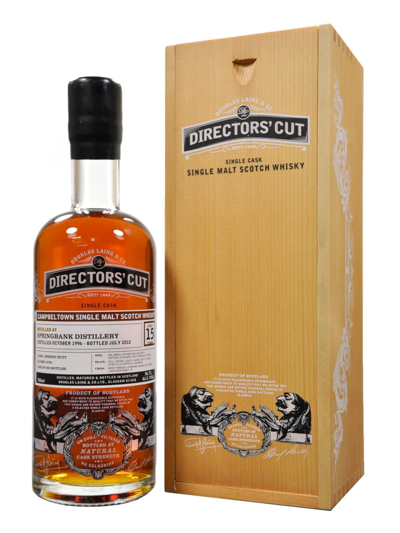SPRINGBANK 15 YEAR 1996 - 2011 DIRECTORS CUT  single maltS