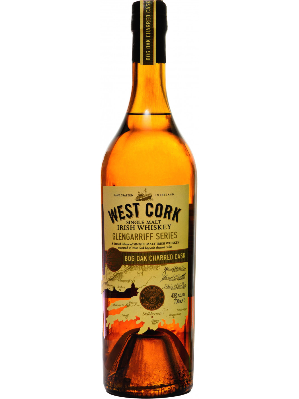 WEST CORK BOG OAK CHARRED CASK single malt