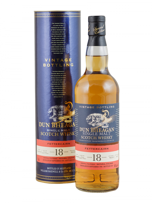 FETTERKERN 18 YEAR 1996 - 2014  DUN BHEAGAN  SINGLE MALT