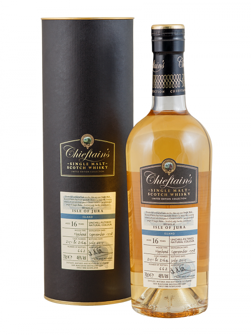 ISLE OF JURA 16 YEAR OLD 1998 CHIEFTAINS SINGLE MALT