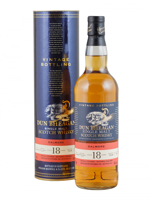 DALMORE 18 YEAR 1996 DUN BHEAGAN SINGLE MALT