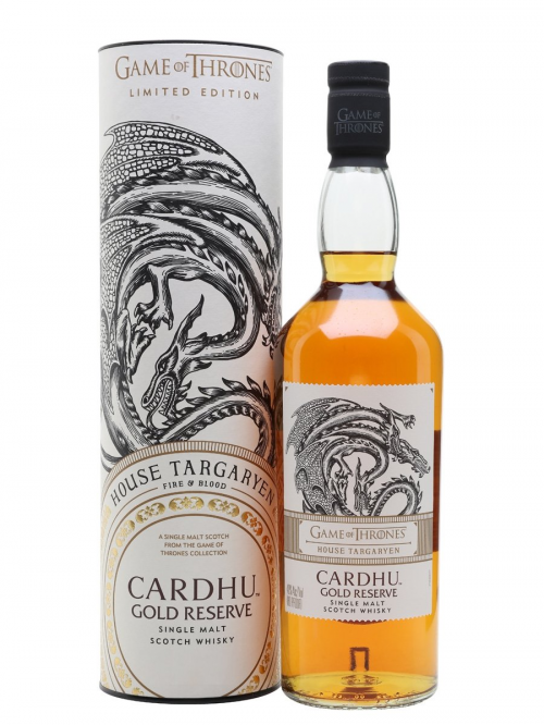 CARDHU GOLD RESERVE GAME OF THRONES HOUSE TARGARYEN single malt