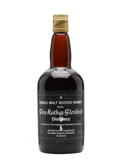 GLENROTHES 1967 20 YEARS SHERRY CASK CADENHEAD'S