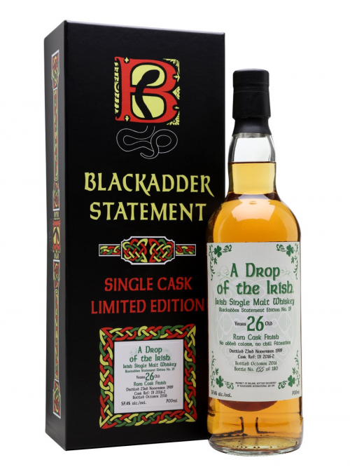 A DROP OF THE IRISH 1989 26 YEARS BLACKADDER STATEMENT NO.19