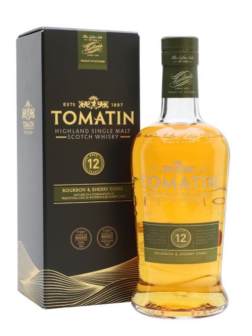 TOMATIN 12 YEARS BOURBON & SHERRY CASKS