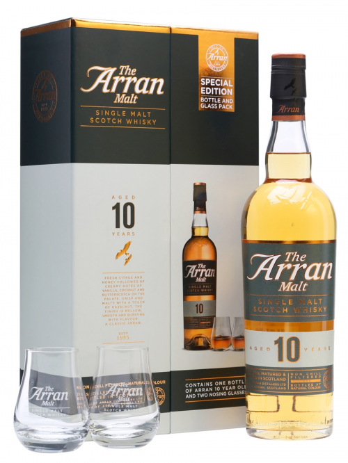 Arran 10 Year Old Gift Box with 2 Glasses